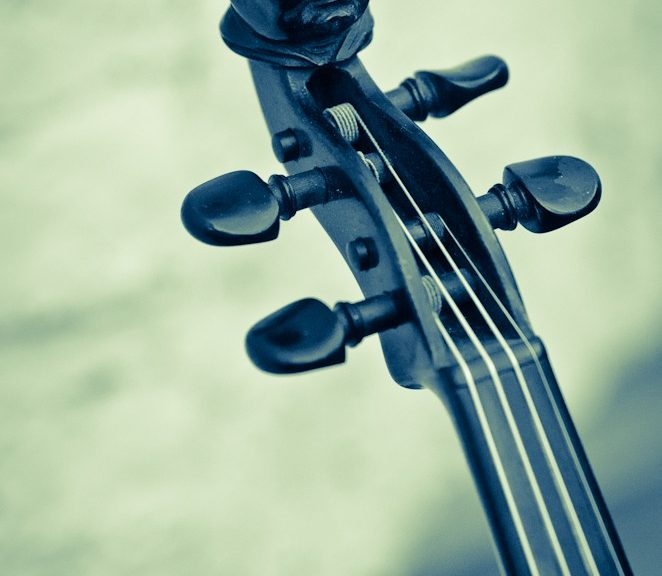 Mönch an der Geige